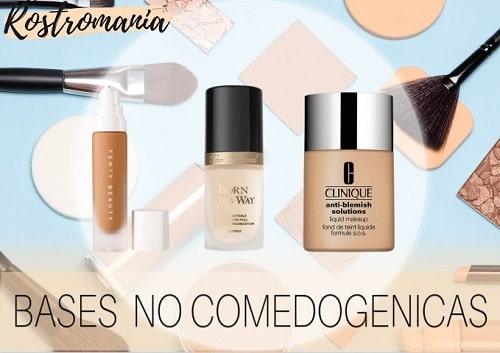 mejores bases maquillaje no comedogenicas